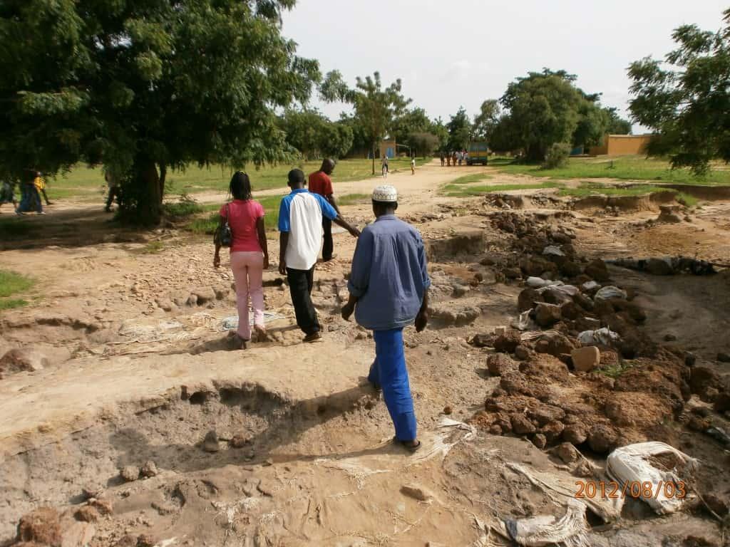 la piste reliant Dargo a Yaongo defoncee par les pluies