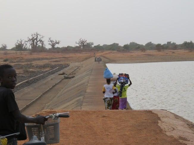 Le barrage de Yaongo.